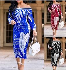 fall clothes women, Plus Size, offshoudler, Necks