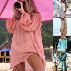 Plus Size, sundress, Long Sleeve, plus size dress