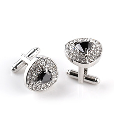 Men Cufflinks, Crystal, personalized cufflinks, designer cufflinks
