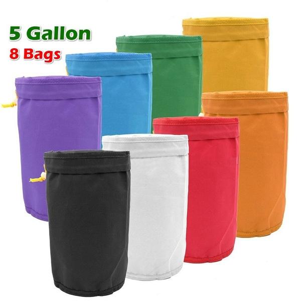 8pcs 5 Gallon Filter Bag Bubble Bag Garden Grow Bag Hash Herbal Bags Ice Essence