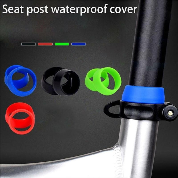 Waterproof Dust Cover Grip MTB Bike Bicycle Seat Post Silicone Rubber Ring