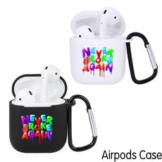 case, airpodcover, letter print, casecoverforairpod
