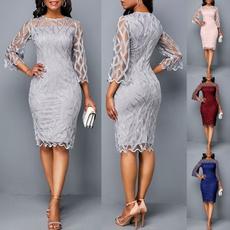 Plus Size, Lace, slim dress, plus size dress