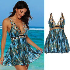 Plus Size, women beachwear, Plus Size Swimwear, onepiecetankini