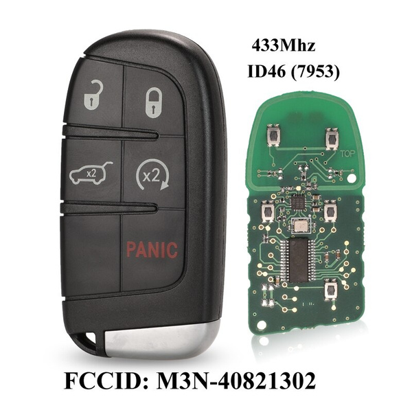 Keyless Remote Key Fob 3+1 Buttons for Chrysler Dodge Jeep ID46 315MHZ FCC M3N