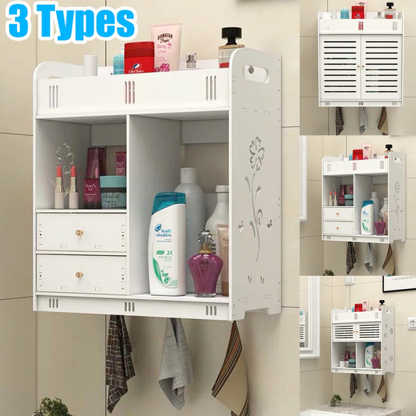 3type Bathroom Storage Cabinet Wall