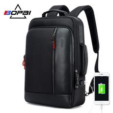 black backpack, Computer Bag, usb, Luggage