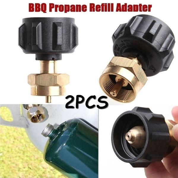 Lp Gas 1 Lb Cylinder Tank Propane Refill Adapter Coupler Heater Outdoor BBQ Hunt