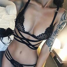 bandagebra, Underwear, Bikinis Set, Lace