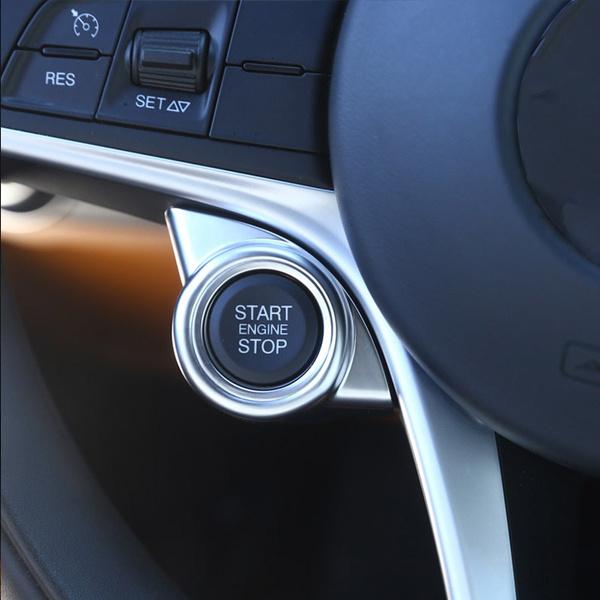 For 2017 2018 Alfa Romeo Giulia Stelvio  ABS Red Start Engine Stop Cover Trim