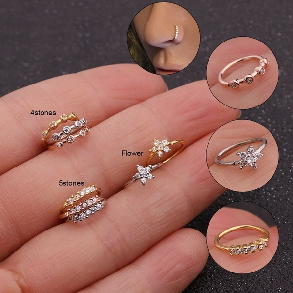 spiralnosering, Fashion, Jewelry, Crystal
