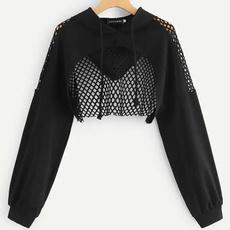 Summer, Casual Hoodie, crop top, pullover hoodie