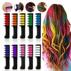 Brushes & Combs, Mini, temporaryhairchalkcomb, hairchalkcomb