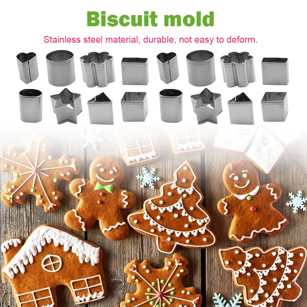 24 Pcs set Stainless Steel Cookie Cutter Fondant Cake Baking Mold Biscuit Moulds