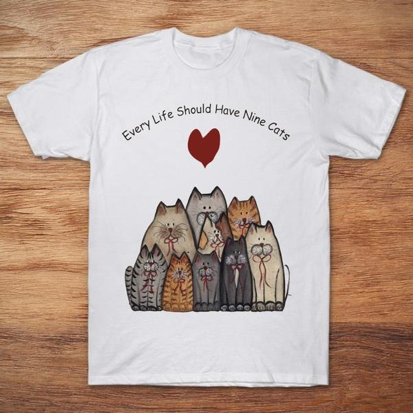 Cats Have Nine Lives Short-Sleeve Unisex T-Shirt