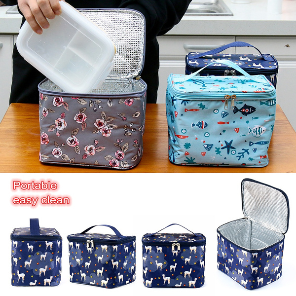 Oxford Thermal Insulated Picnic Pouch Lunch Box Lunch Bag Food Storage