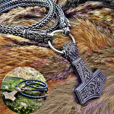 Head, thorhammer, vikingnecklace, Stainless Steel