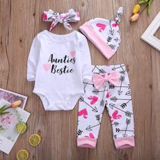 4pcsset, babygirloutfit, longsleeveromper, infantsamptoddler