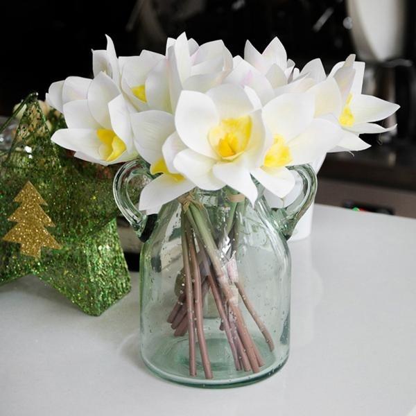 4pcs Bouquet Artificial Flower Garden Stage Wedding Arrangement Party Diy Decor Vase Not Included Wish