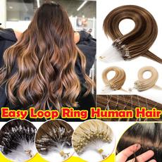 hairextensionshumanhair, Fashion, loopinhumanhair, human hair