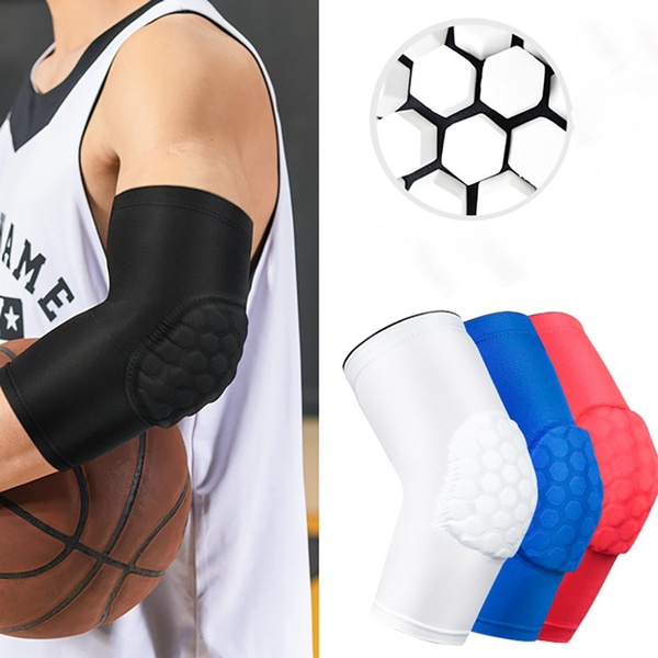 Sports Arm Pads Guard Sleeve w// Elbow Pad Anti-collision  Anti-skid Breathable