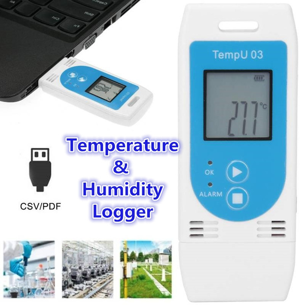 LCD USB Temperature and Humidity Data Logger PDF GSP Datalogger Recorder for The Temperature Humidity Recording Temperature and Humidity Logger