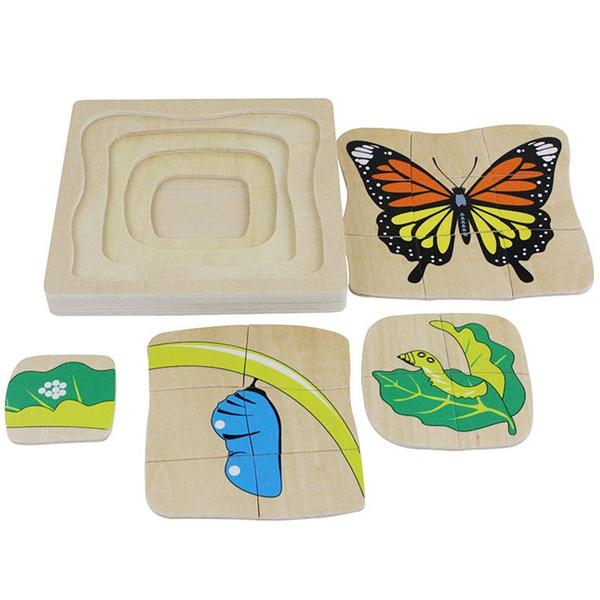 butterfly, Toy, Wooden, Jigsaw