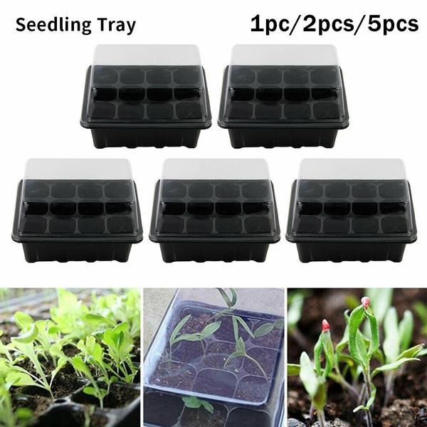 12 Hole Plant Seed Grow Box Insert Propagation Nursery Seedling Starter Tray Kit