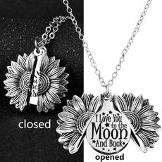 hiddenmessagenecklace, Love, silversunflowernecklace, sunflowerlocket