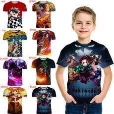 kids, shortsleevestshirt, 3dprintedkidstshirt, Sleeve