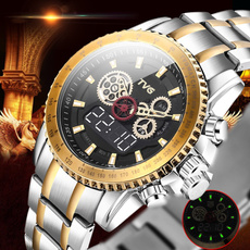 Steel, military watch, Casual Watches, gold
