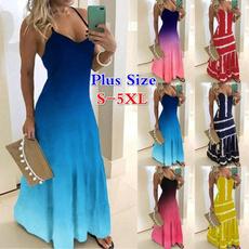 party, Plus Size, Colorful, long dress