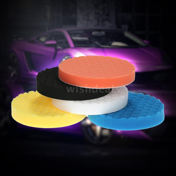 "5Pcs 6/"" Sponge Polishing Waxing Buffing Polishing Pads Kit Set For Car Polisher"