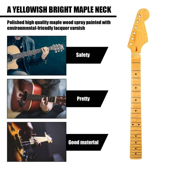 Maple Wood Replacement Neck Fingerboard Dot Fret for ST Strat Electric Guitar