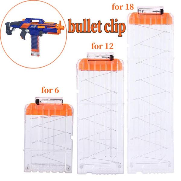 10-Bullet Reload Clip Magazine Darts Replacement Toy Gun Soft Bullet Clip❤