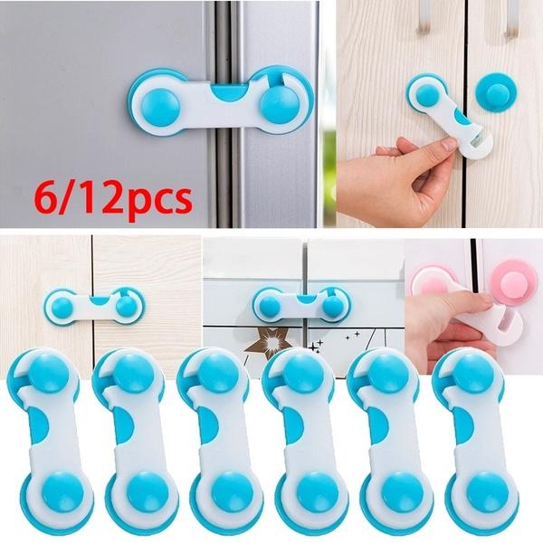 New Children Wardrobe Cabinet Refrigerator Door Baby Blue Safety Security Lock