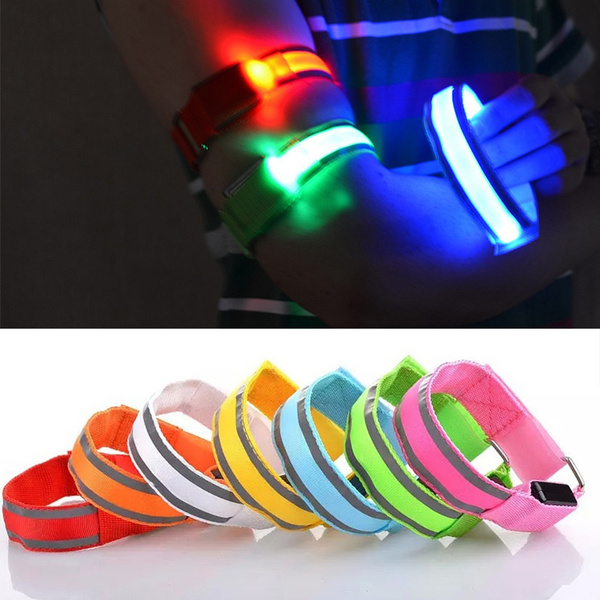 Reflective LED Light Armband Strap Safety Belt Night Running Cycling Flashing