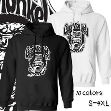 Plus Size, hooded, monkey, gasmonkeygarage