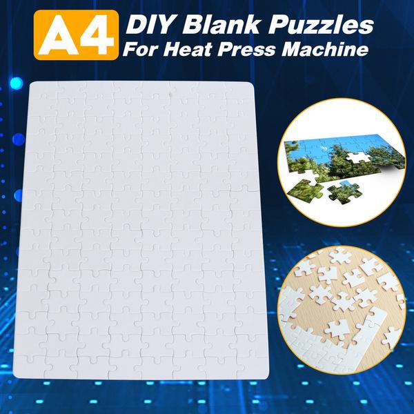 "11.42x7.87/"" DIY A4 Blank Dye Sublimation Printable Jigsaw Puzzle For Heat"