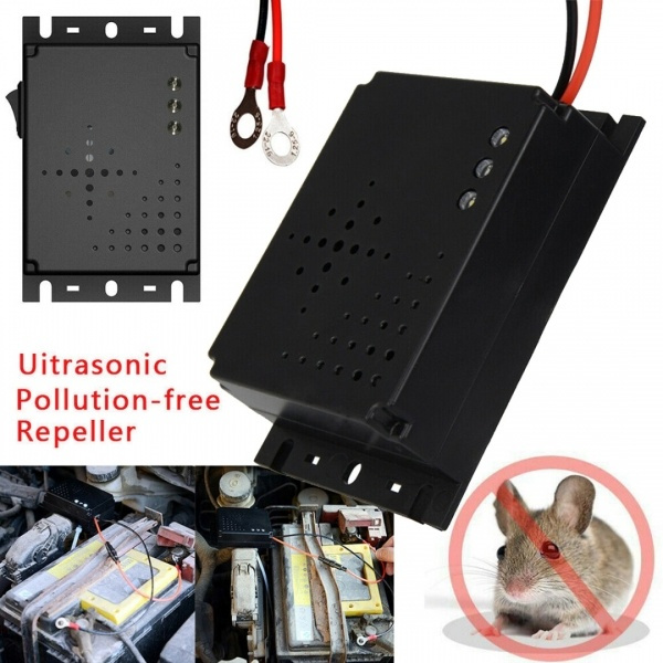 Car Vehicle Ultrasonic Control Mouse Rodent Pest Animal Repeller Deterrent DC12V