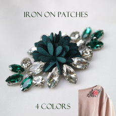 crystalpatche, Flowers, Iron, patchesforclothe