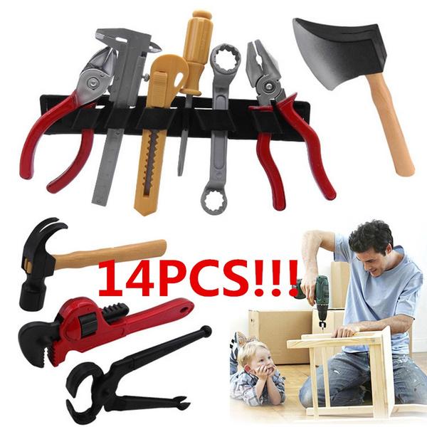 DIY 14PCS//Set Plastic Building Construction Educational Toys Tool Kits Kids Gift