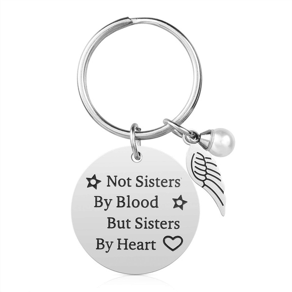 Sister Keychains Friends Keyring Always My Sister Forever My Friend Key chain for Women Girl Christmas Birthday Gift