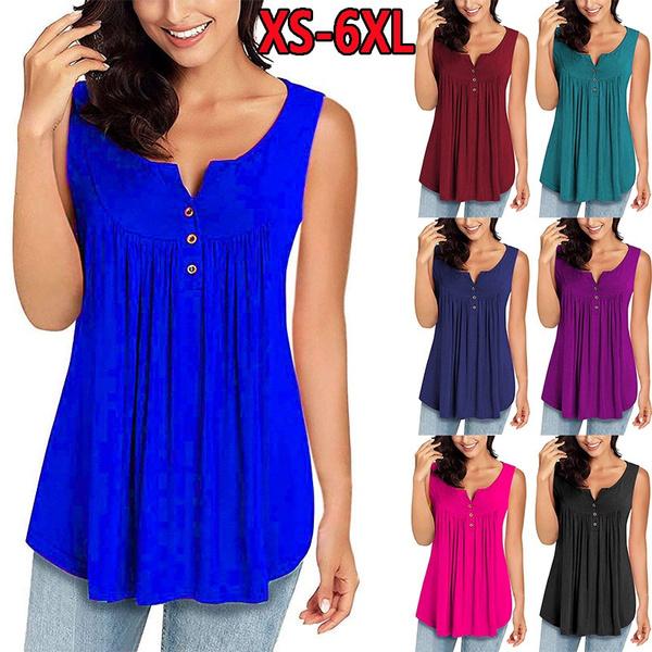 Women Vest, Fashion, Pleated, Plus size top