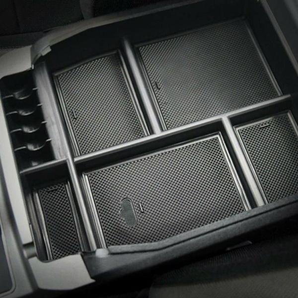 Armrest Box Storage Box Accessories Black For Ford F150 2015-2018 Car Interior