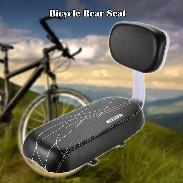 Bicycle Bike Back Seat Child Safety Cushion Rear Armrest Feet Pedals Footrest