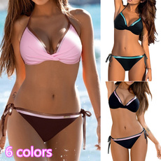 Summer, women swimwear, two piece swimsuit, leaf