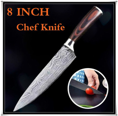 Steel, cuisine, Kitchen & Dining, damascusknife