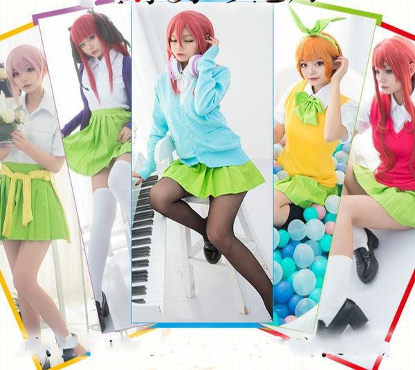 The Quintessential Quintuplets Cosplay Uniform Nakano Ichika  Nino Miku Yotsuba