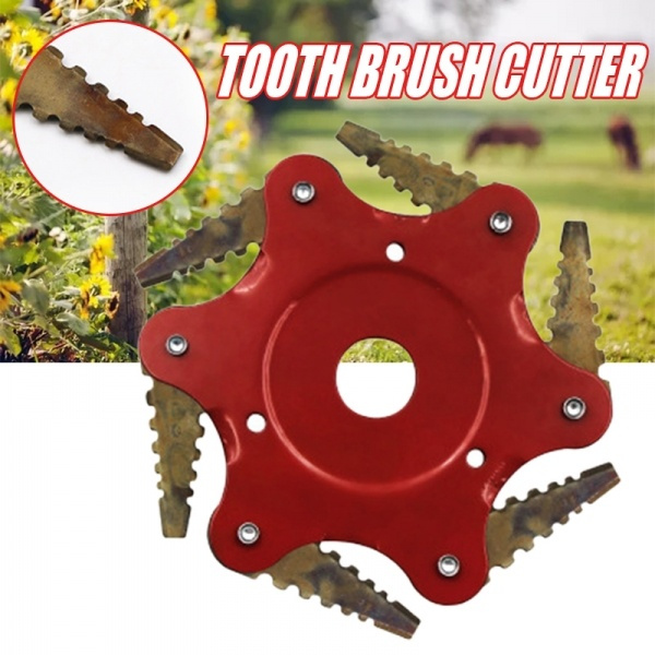 Supplies 6 Teeth Strimmer Head Lawn Mower Brush Cutter Grass Trimmer Blade